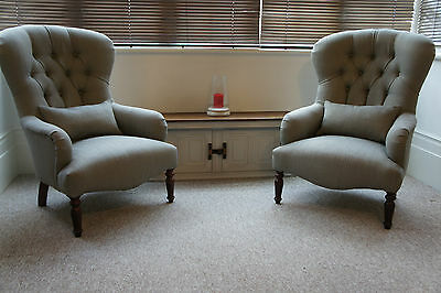 Fireside Armchairs In Laura Ashley Edwin French Grey