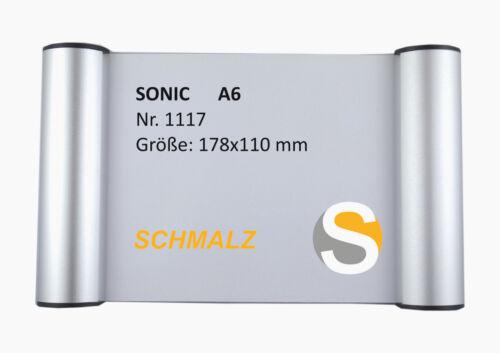 Türschild Büroschild SONIC aus Aluminium mit Klemmprofil Befestigungsmaterial