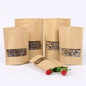 10PCS-Waxed-Kraft-Paper-Bag-Home-Candy-Food-Package-Storage-Pouch-Wedding-Favor