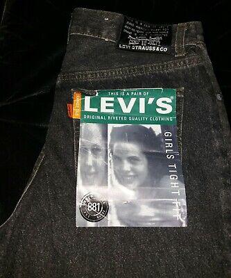 Capace Vintage 70's Levi's 881 Orange Tab Donna W32l32 Black Nuovi Con Etichette