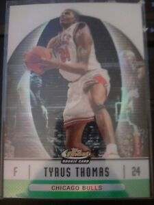 2006-07-Topps-Finest-81-Tyrus-Thomas-Green-Refractor-Rookie-RC-d-074-199
