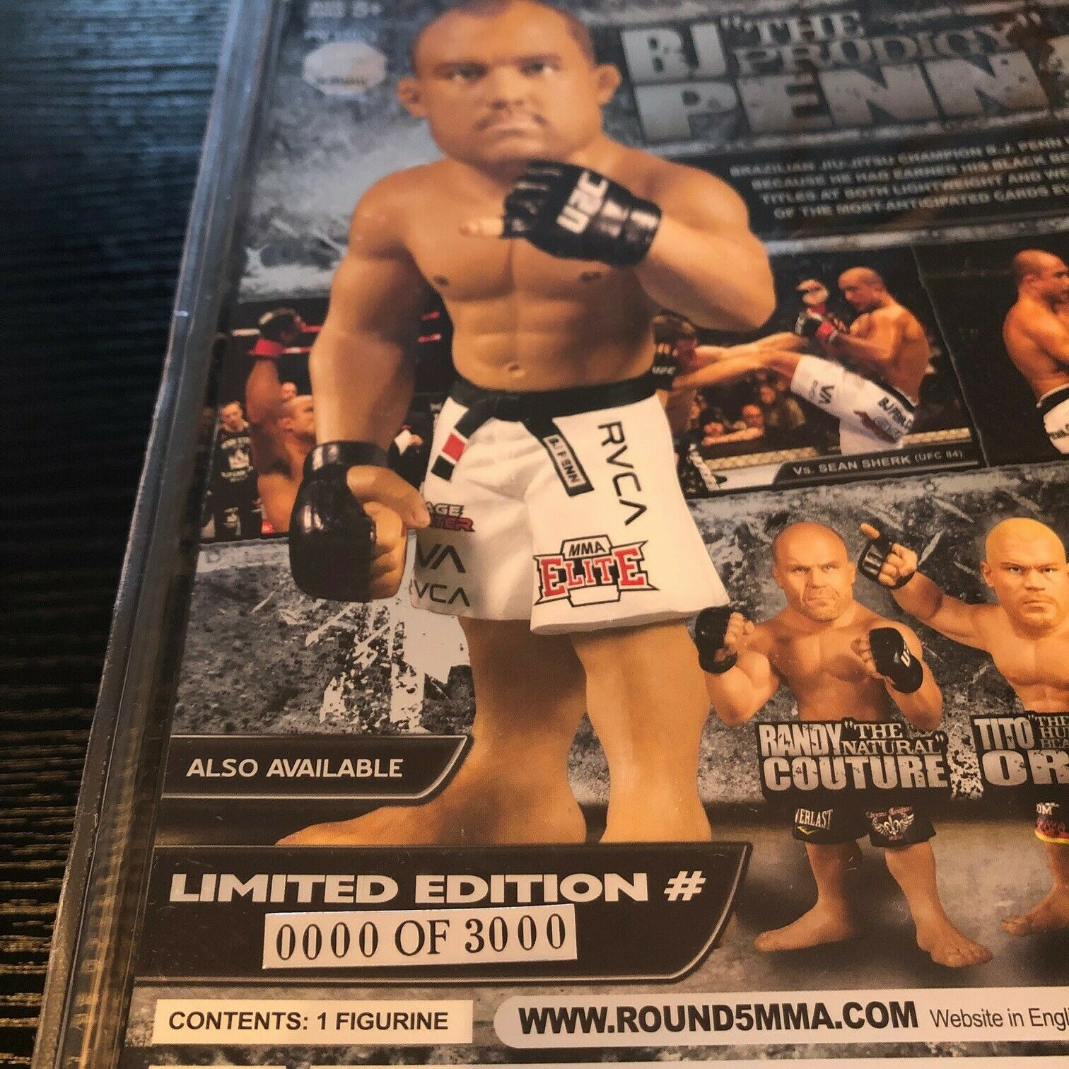 BJ Penn Round 5 UFC Series 2 LIMITED EDITION ( 3000) Action Figure