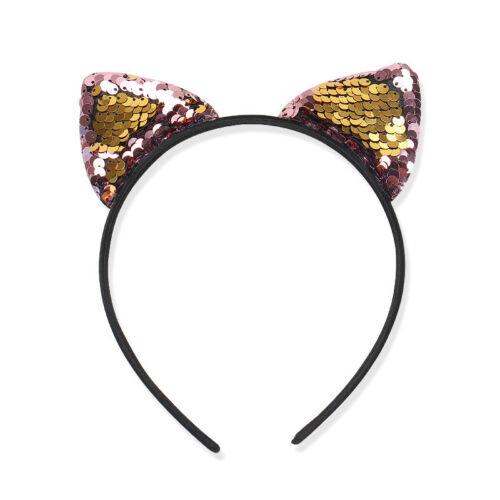 1PC Glitter Reversible Sequin Bowknot Hair Hoop Headband Headwear for Girls