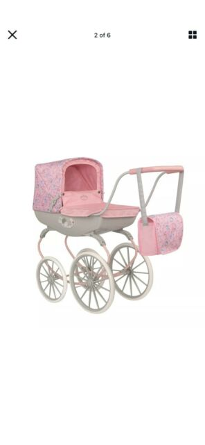 Zapf Creations Dolls Baby Annabell Carriage Pram Kids Toy Doll Pushchair Pink