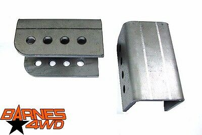 """Square Link Mount Bracket Pair 2/"""" Mounting Width 1//2/"""" Bolt Hole 10 Degree"""