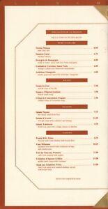 THE LODGE AT PEBBLE BEACH Restaurant Menu, Brochure, and Map California