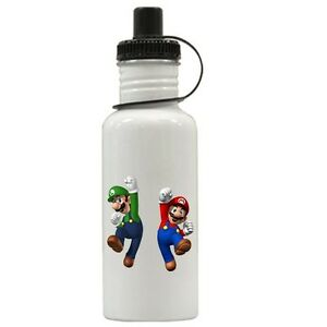 Personalized Super Mario Luigi Brothers Water Bottle