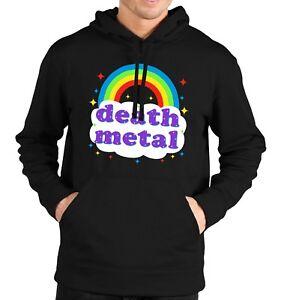 Death-Metal-Rainbow-Hoodie-Hoody-Mens-Womens-Kids-Funny-Parody-Rock-Gig-Festival