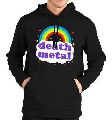 Death Metal Rainbow Felpa Con Cappuccio Felpa Con Cappuccio Uomo Donna Bambini Divertente Parodia Concerto Rock Festival- Una Grande Varietà Di Merci