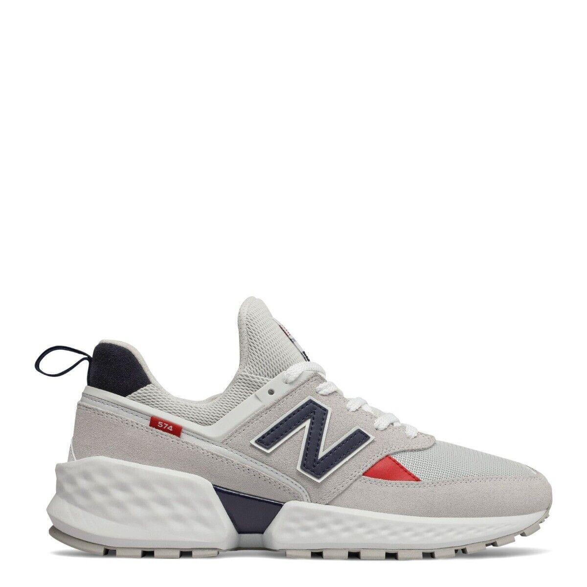 Para Hombre 574 Sport New Balance Zapatos  gris Azul Marino-MS574GNC