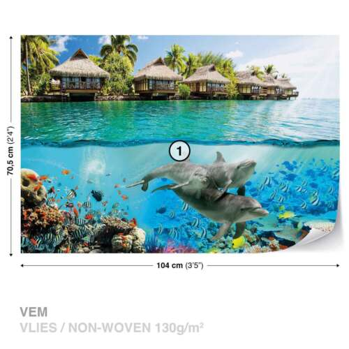 WALL MURAL PHOTO WALLPAPER XXL Underwater Sea Scene 3193WS
