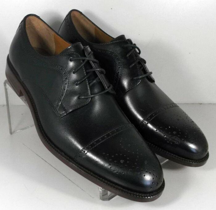 272301 sp50 machos de 9 metros de calzado de cuero negro Johnston & Murphy