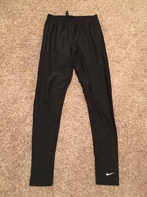 WOMENS NIKE DRI-FIT PRO COMBAT STRETCH LEGGINGS SIZE M SOLID BLACK