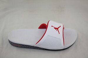 5fdac86cfaf6 NEW 854556-103 Jordan Men Hydro III Retro Slide White University Red ...