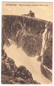 AK-Riesengebirge-Gr-Schneegrube-mit-Baude-um-1913
