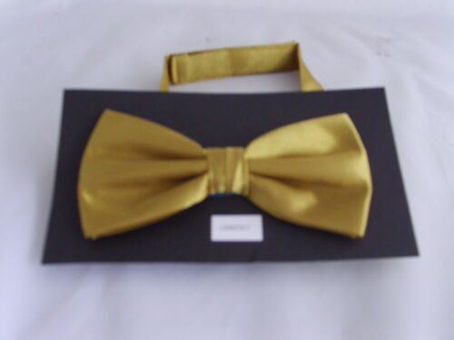 Shiny Polyester GOLD Mens Bow Tie Cummerbund and Hankie Set/>60 Colours in Shop