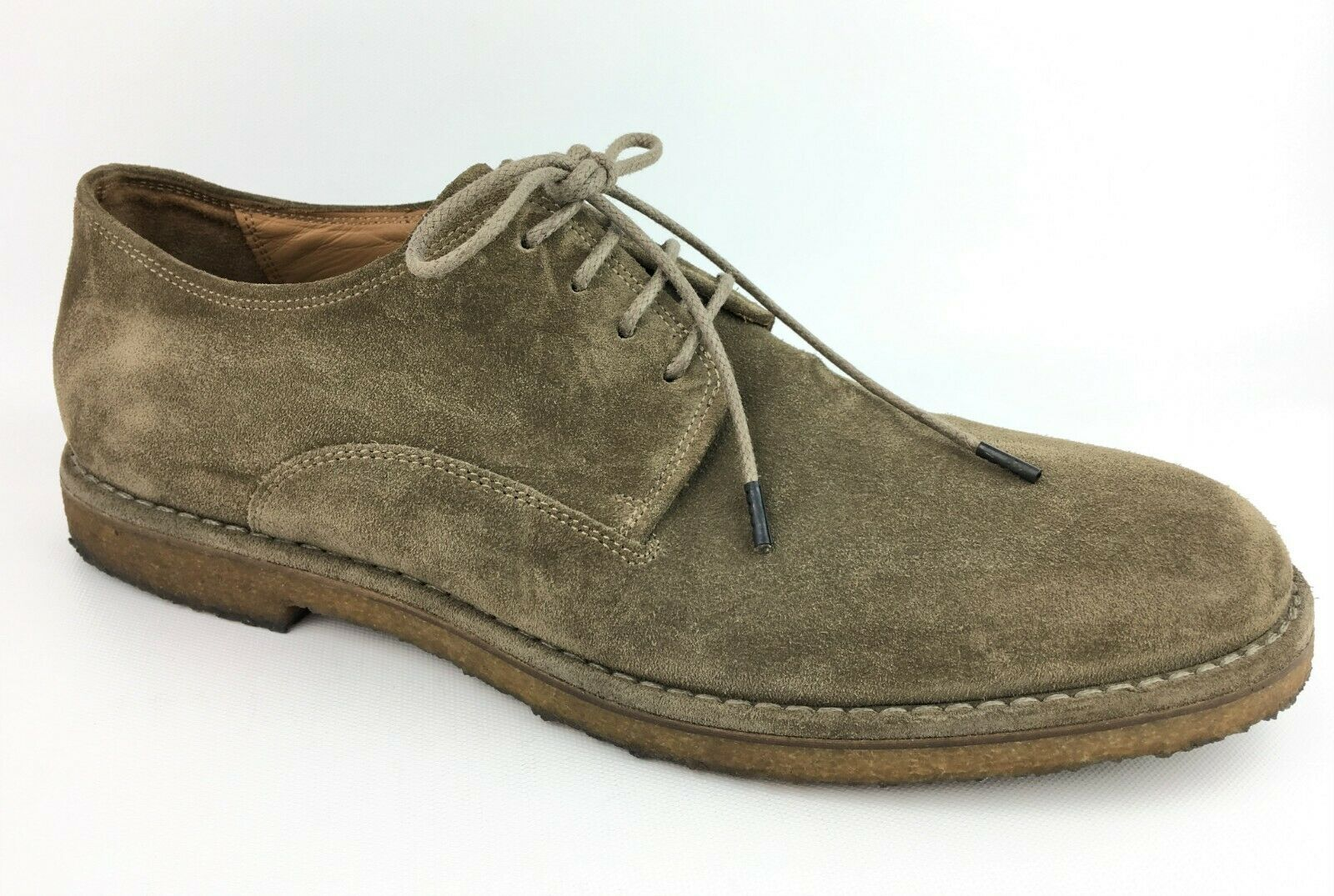 Vince Men's Stetson Suede Crepe Sole Derby Oxfords (Flint) sz  US 11