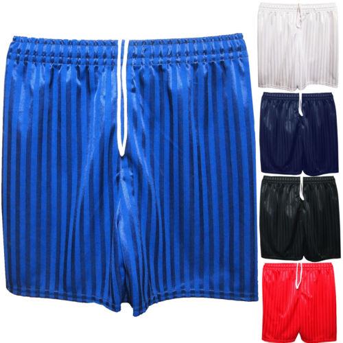 Unisex Boys Girls Shadow Striped Gym Sports Games School PE Shorts Football 2//14