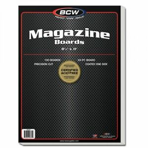 1-Pack-of-100-BCW-Magazine-Backing-Boards