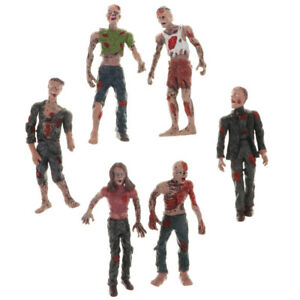 Set of 6pcs Walking Zombie Action Figures Movie Characters Model Kids Toys
