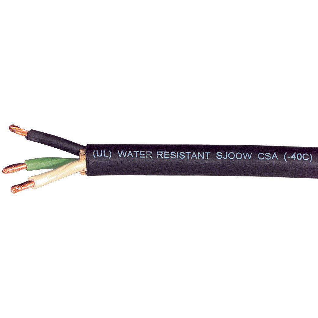 14 AWG 3C 14//3-SOOW Yellow 600V Vutron Supreme UL//CSA Portable Cord Cable 75FT