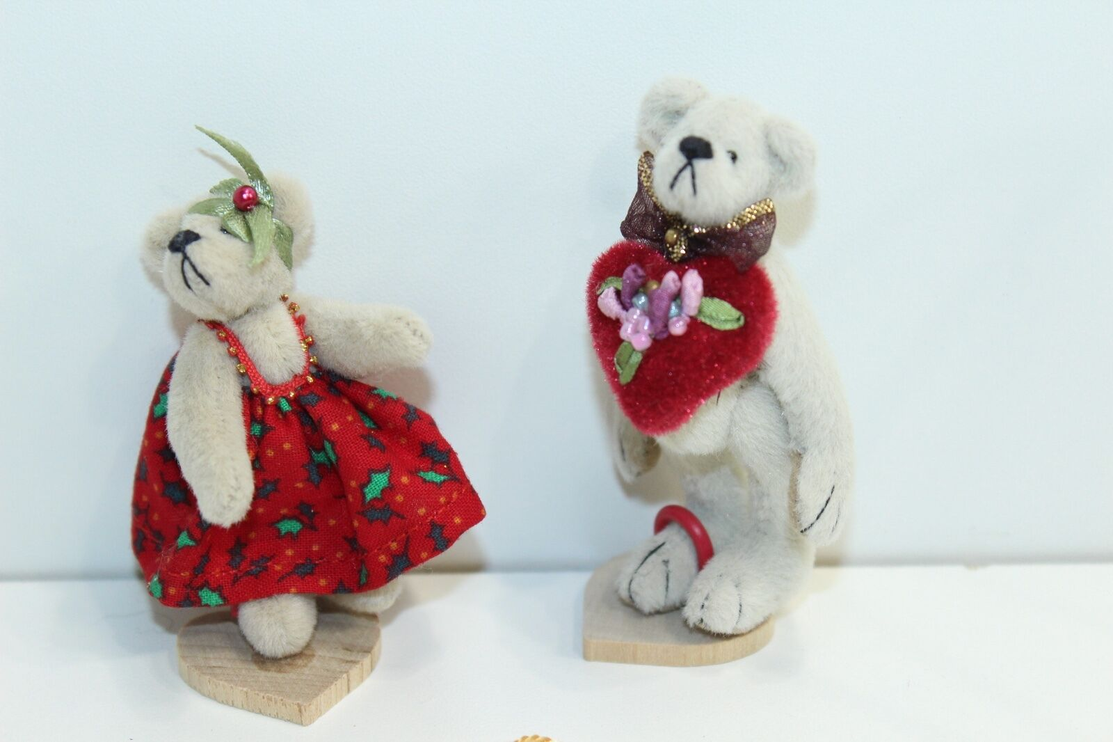 Little Gem Bear Holiday Set Christmas and Valentines Day Bears Boy + Girl 2.5