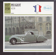 1937-1938 Peugeot 402 DS Darl'Mat Paulin France Car Photo Spec Info ATLAS CARD