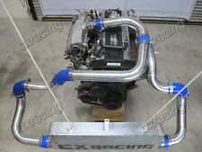 CX FM Aluminum Intercooler Kit + BOV For Nissan S13 S14 240SX RB20 RB25DET blue