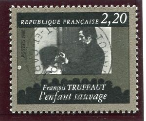 STAMP-TIMBRE-FRANCE-OBLITERE-N-2442-CINEMA-FRANCOIS-TRUFFAUT