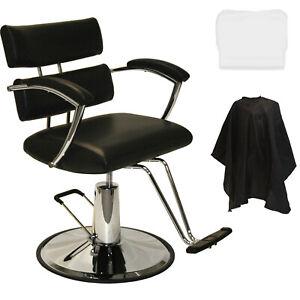 New Extra Wide Black Hydraulic Barber Chair Styling Hair Beauty Salon Equipment Ebay