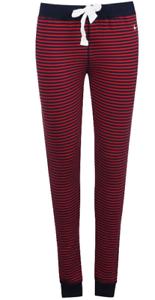 * REF138 S Jack Wills Sterling rayé Lounge Pants Femmes Rouge//Bleu Marine Taille UK 10