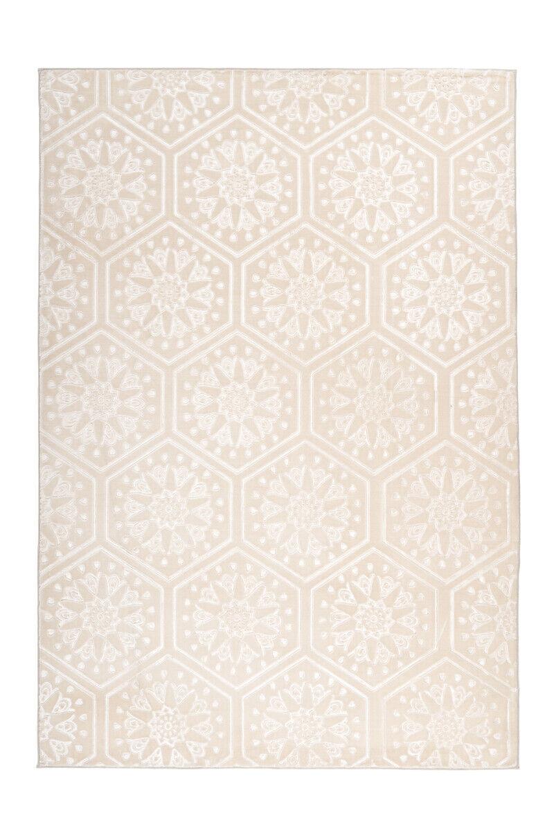Tapis marocain motif d'ornement Motif Tapis Crème Blanc 200x290cm