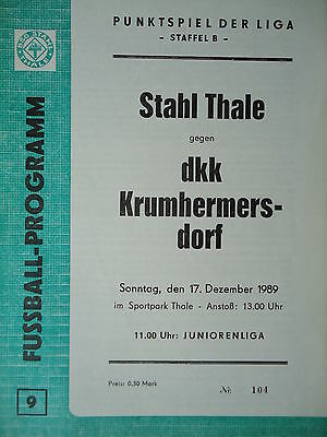 Programm 1981//82 BSG Stahl Riesa Krumhermersdorf