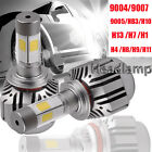 80W 8000LM LED Headlight Kit H1 H4 H7 H11 H13 9004-9007 Low Beam Bulbs 6000K LOT
