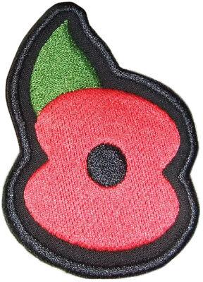 Parche Emblema Flor Amapola Roja día del veterano Memorial Recuerdo
