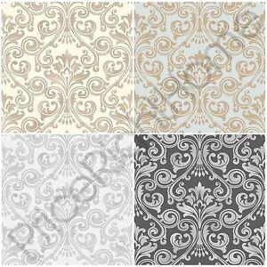 York Wallcoverings AB2027 Black and White Damask Wallpaper, Cream ...