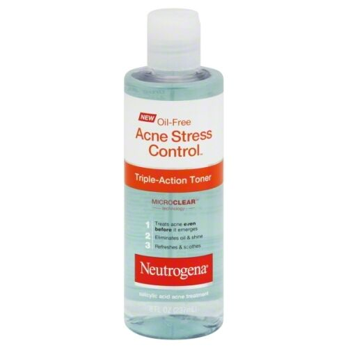 Neutrogena Oil-Free Acne Stress Control Triple-Action Toner-8 oz : 3 pack