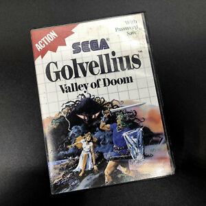 * SMS Sega Master Sistema-GOLVELLIUS Valle de Doom-Sin Manual