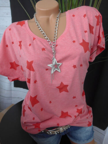 40//42 bis 48//50 Kurzarm mit Sternen 915 NEU Sheego Shirt Damen Tunika Gr