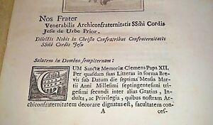 Arci-confraternita-Sacro-Cuore-di-Gesu-039-antico-libretto-1700-PAPA-Clemente-XII