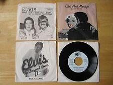Lot of (4) Elvis Presley Tribute 45RPM Records: J.D. Sumner, Leon Russell