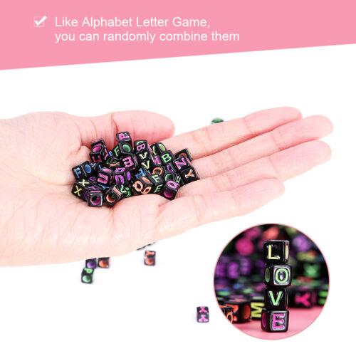 Calidad de 500 piezas mixtas letra del alfabeto cubo perlas resultados para Hazlo tú mismo joyería haciendo