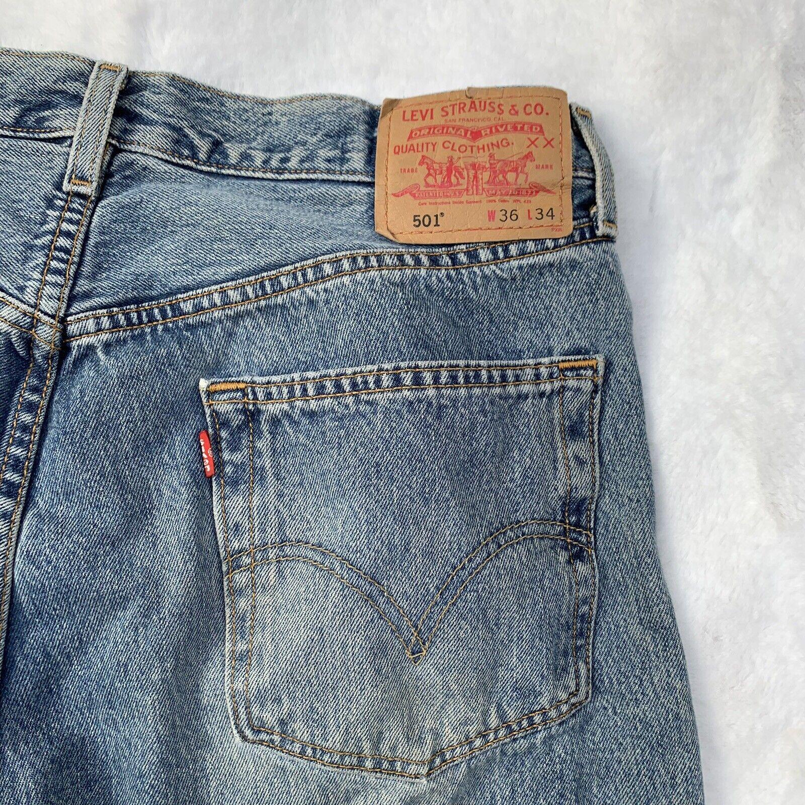Vintage 90s LEVI'S 501 distressed Cut Off Shorts … - image 4