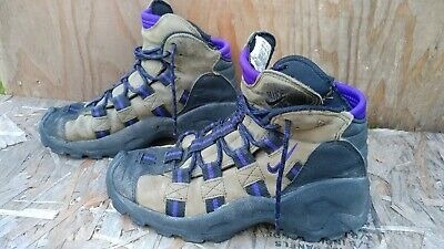 VTG 90s Nike Air ACG Womens 8 Trail Hiking Boot Shoes Brown Leather 950608 ID | eBay