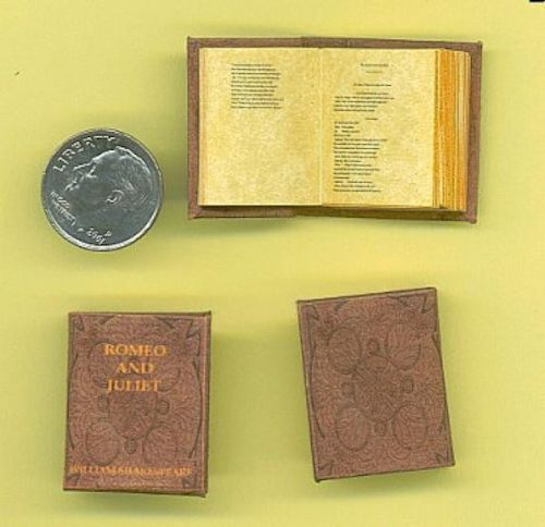 Dollhouse Miniature Book Shakespeare Romeo /& Juliet Miniatures for Doll House