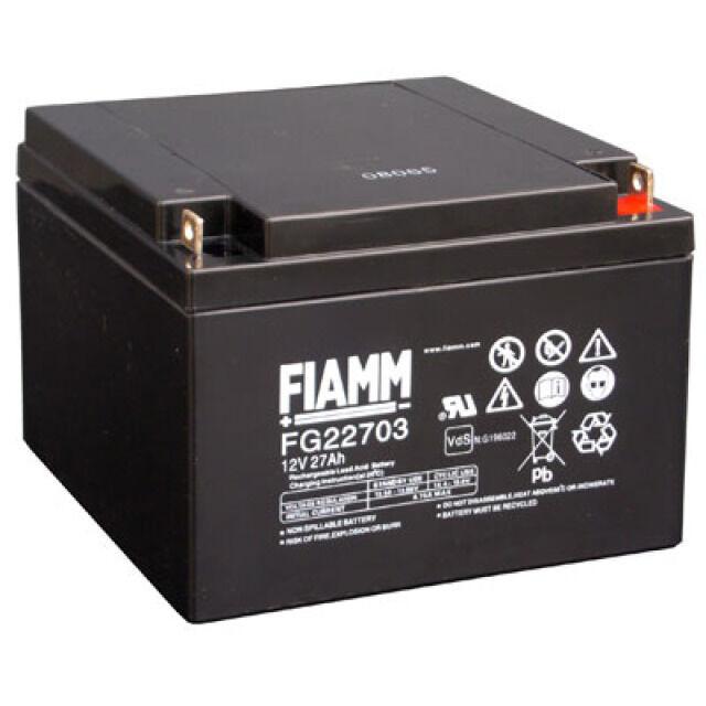 Fiamm  FG22703 12V 27Ah M5 Schraubanschluss Powerfit S312/26F5 NPL24-12i