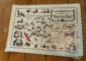 1960s Vintage Partial Package Paper Placemats The Land of the Pennsylvania Dutch