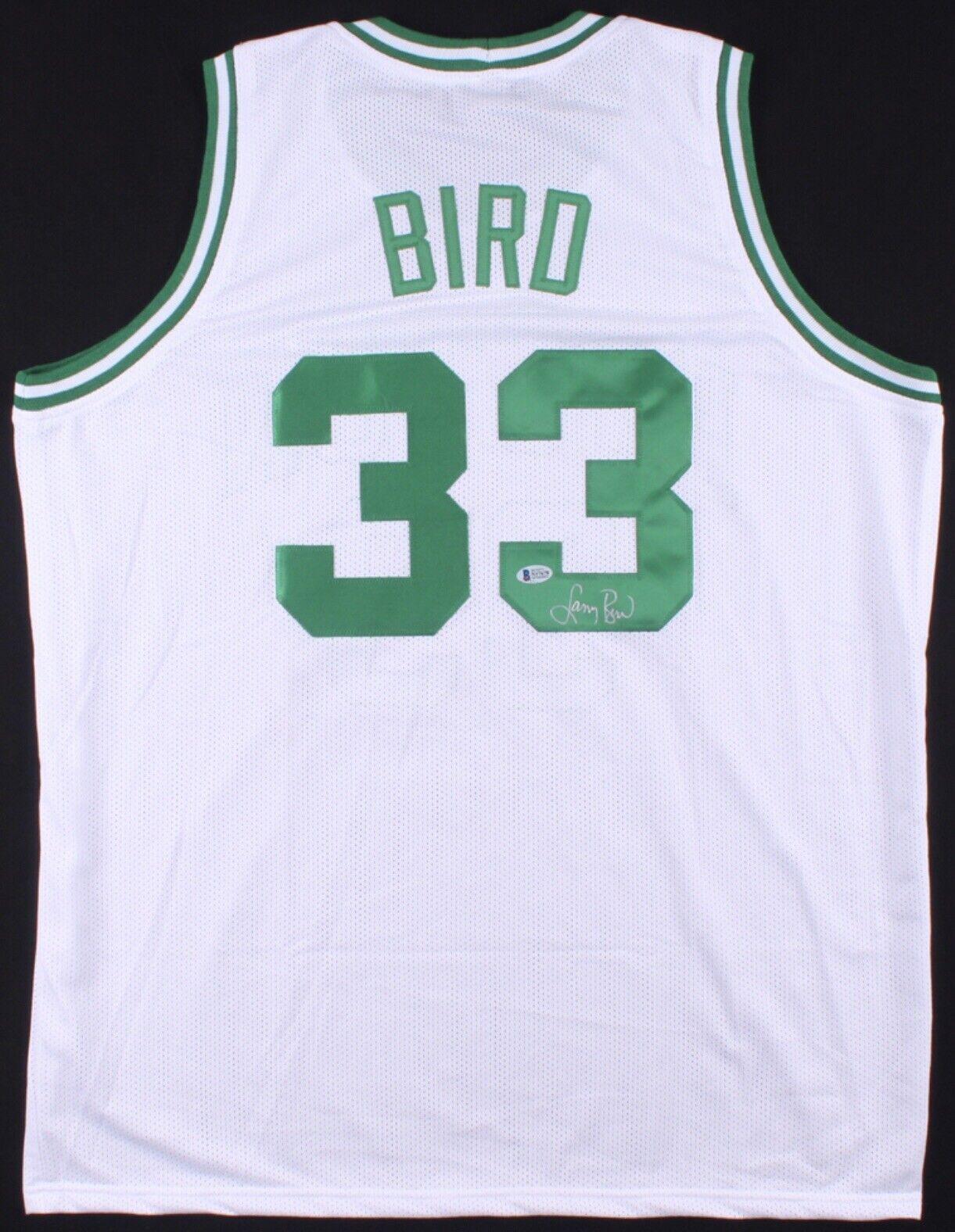 Larry Bird Getekend Jersey Boston Celtics Beckett COA