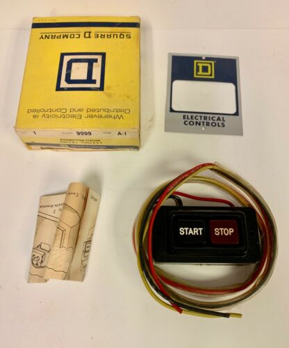 Details about  /Square D Pushbutton Station Switch # 9999 A-1 ~ For Size 0 /& 1 ~ 101628 NEW