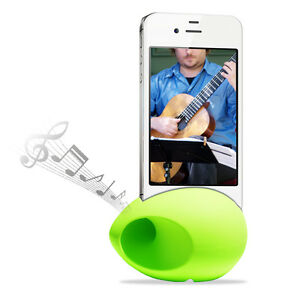 Cirago-Green-iPhone-NuSound-Pod-Sound-Speaker-Amplifier-for-iPhone-5s-5c-5-4s-4